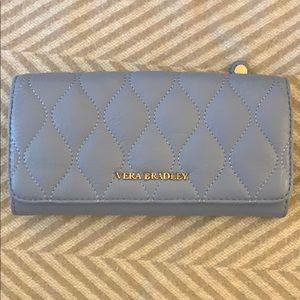 NWT Vera Bradley Leather Wallet - Powder Blue